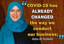 COVID-19 has already changed the way we conduct our business; Azza Al Qubaisi