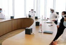 Sheikh Hamdan chairing Dubai Government Employee Happiness Index reveal