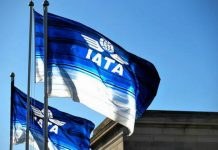 IATA logo on the Flag