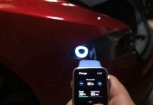 Smartwatch for Tesla