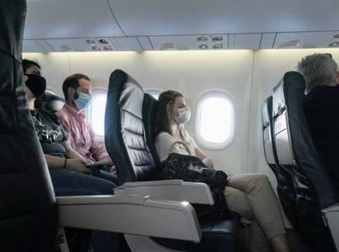 Passengers with mask image