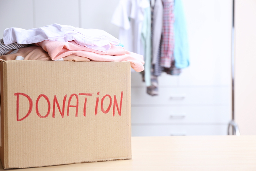 Donating clothes Image