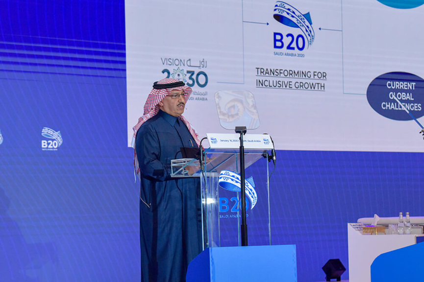 Saudi Leader at B20 Summit