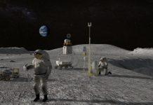 Astronauts in moon