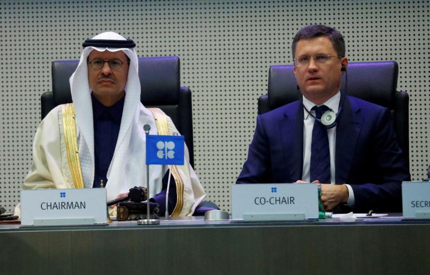 Prince Abdul Aziz Bin Salman and Alexander Novak