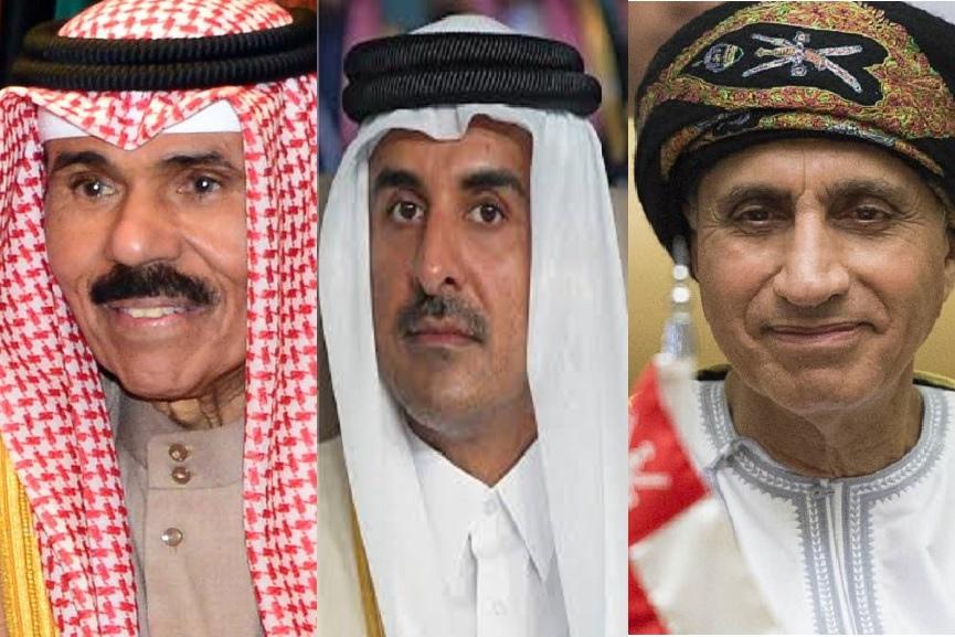 Leaders of Kuwait, Qatar and Oman