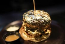 A burger coated in 24k gold! This is what a Colombia restaurant is offering in its platter
