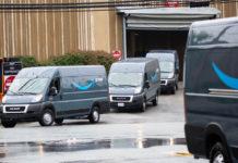 Amazon Delivery Trucks Image