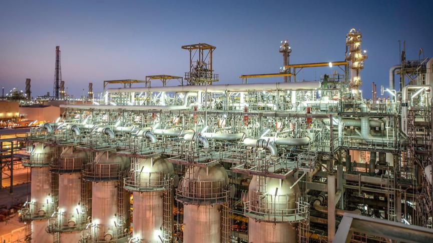 Qatar Gas Plant Image