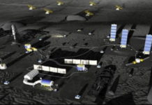 Lunar Space Station Image
