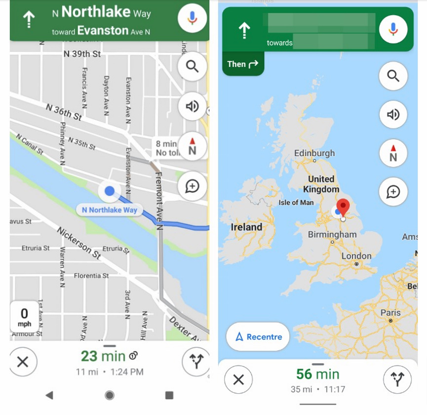 Google Maps with Compass