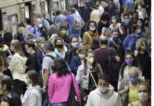 People with Masks Image