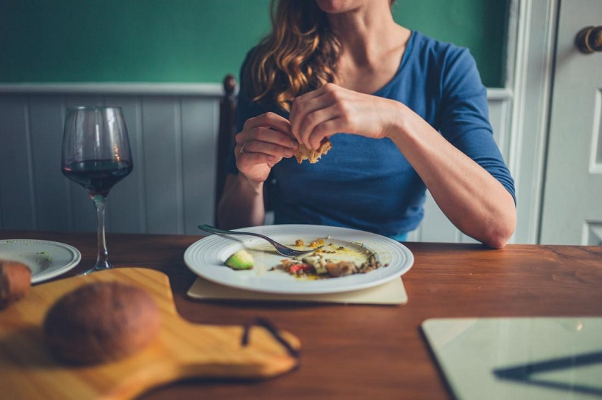 Woman Eating Meal